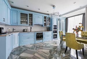 Кухни с фасадами из крашеного МДФ из металла на заказ по индивидуальному дизайну