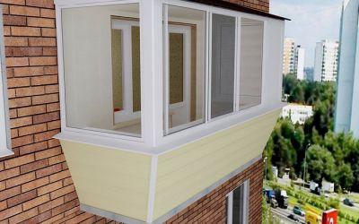 Вынос, крыша балкона