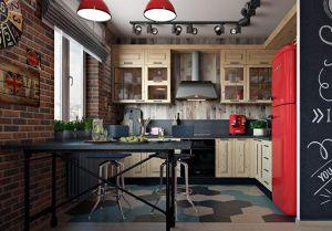 Кухни с фасадами из рамочного МДФ из металла на заказ по индивидуальному дизайну