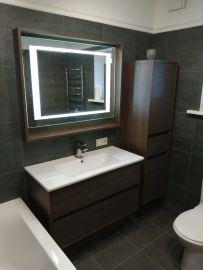 Ванная комната с фасадами из МДФ пластик