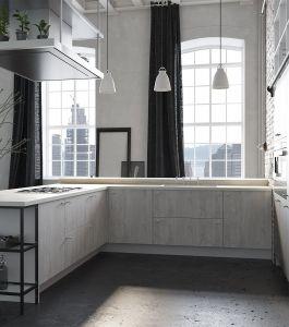 Кухни с фасадами из текстурированного пластика Syncron из металла на заказ по индивидуальному дизайну