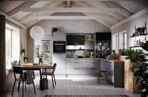 Кухни с фасадами из акрила из металла на заказ по индивидуальному дизайну