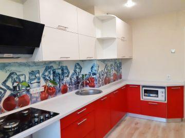 Кухня с фасадами из пластика и ЛДСП