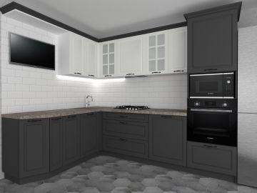 Кухня с фрезерованными фасадами с ПВХ